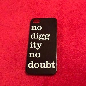 Accessories - No diggity no doubt hard IPhone 5 case